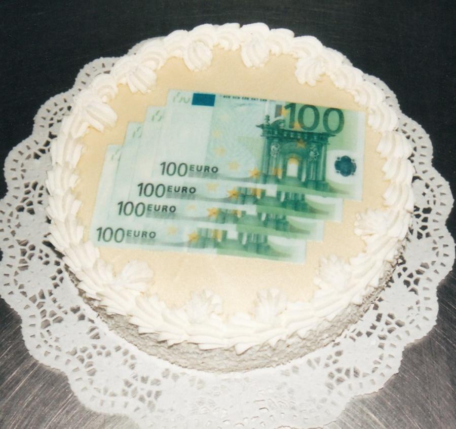 geldschein torte